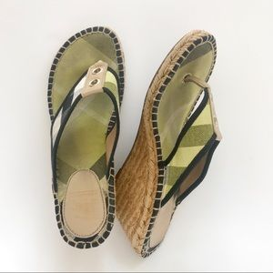 Burberry Wedges Thongs House Check Sandals